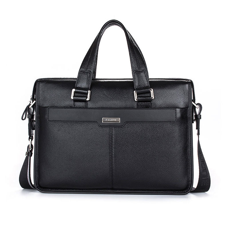 Free shipping P.Kuone man commercial male handbag genuine leather Messenger shoulder mens casual bag leather briefcaseFree shipping P.Kuone man commercial male handbag genuine leather Messenger shoulder mens casual bag leather briefcase