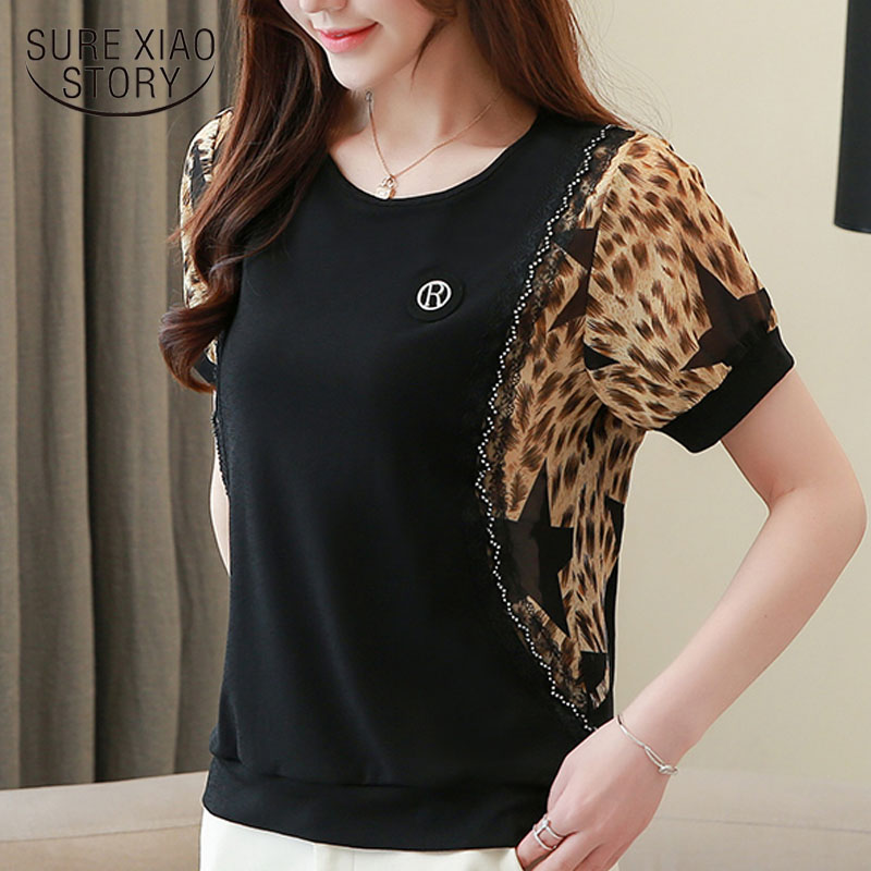 Womens tops and   blouse   2019 off shoulder top chiffon   blouse   plus size tops Leopard   shirts   ladies tops   blouse     shirts   3449 50