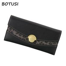 BOTUSI Leopard Grain Fashion Women Wallet Female Purse Pu Leather Wallets Big Capacity Ladies Coin Purses Phone Clutch Card Bag