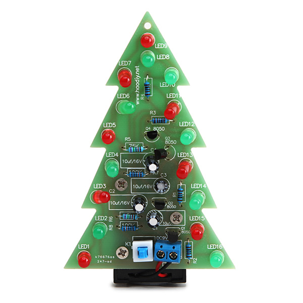 Assembled Christmas Tree LED Flash Electronic LED Flash Light Device Module
