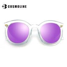 2017 Summer Vintage Round Sunglasses Women PC Mirrored Lens Brand Designer Retro Sun Glasses Polarized Mirror Sun Glasses 9059