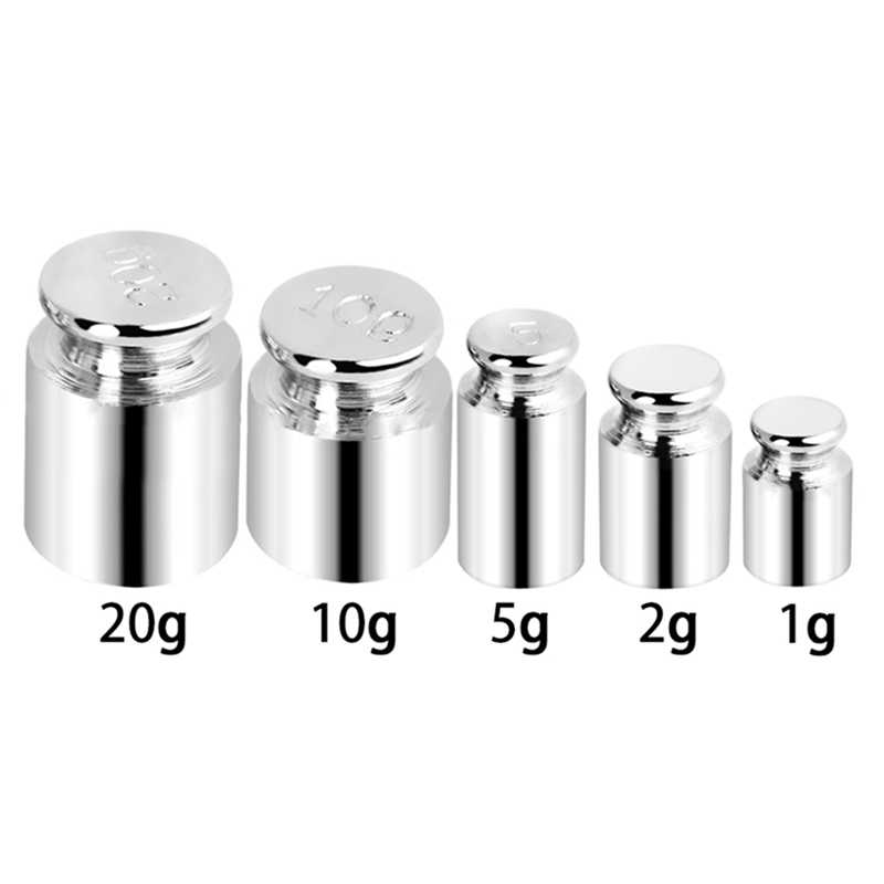 5pcs/set Precision Calibration Set Chrome Plating Scale Weights Set 1g 2g 5g 10g 20g Grams For Home Tool