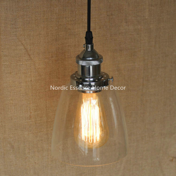 Rural Retro Modern Minimalist Personality Font Silver Clear Glass Shade Pendant Lighting Canada Lowes Ball Chandeliers