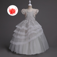 שמלה יפה לילדים 3 4 5 6 7 8 9 10 11 12 שנים תחרות שמלות ערב אלגנטיות בנות ארוכות שמלות למסיבה וחתונה