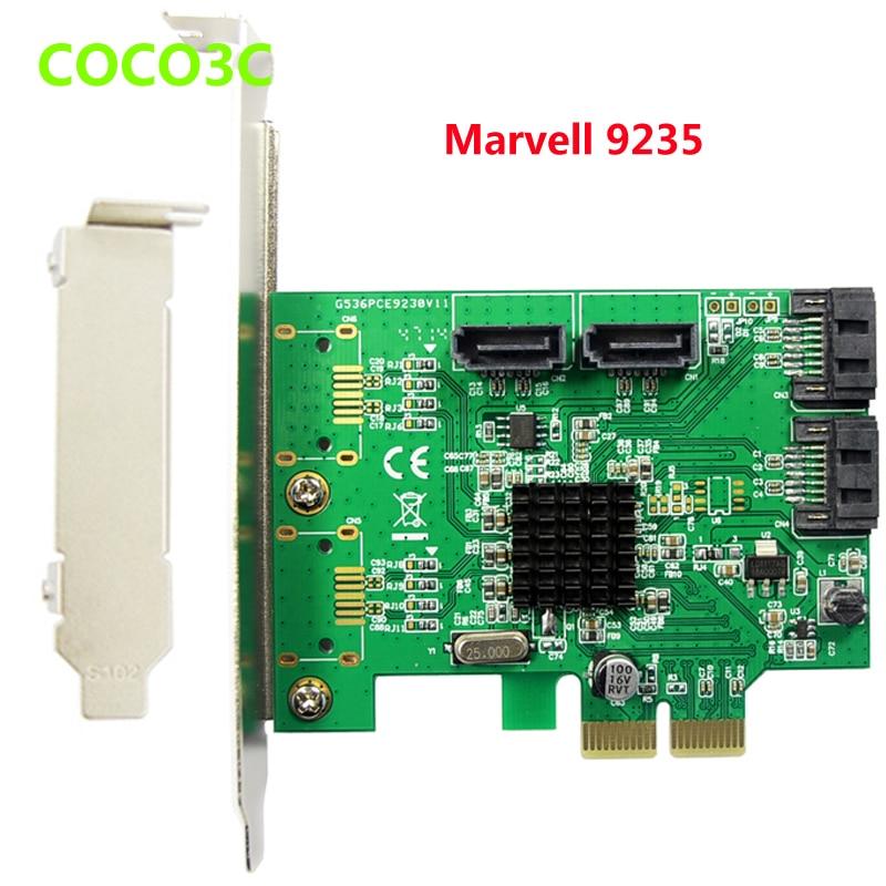 все цены на  Marvell 9235 chipset Quad Ports SATA 3.0 PCI-e Controller , SATA III  Port Multiplier PCI Express card  онлайн