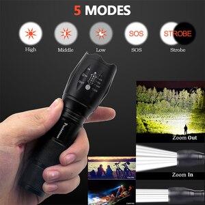 Image 4 - 슈퍼 밝은 XM L T6 L2 XP L LED 손전등 1*18650 또는 3 * AAA 램프 손 빛 z50에 의해 충전식 Zoomable Linternas 토치 빛