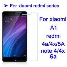 For xiaomi redmi 6a glass for xiaomi mi a1 screen protector redm 4x note 4x 4a 5a termpered Glas protection protective film xiom(China)