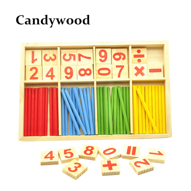 Montessori Educational Toys Mathematics Math Counting Toy Preschool Spindles Wooden Math Toys For Kids Children Gift