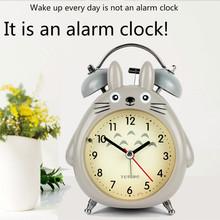 Cartoon Totoro alarm stołowy zegar rękodzieło pulpit LED światła wyposażenia wnętrz miniatury zegar boże narodzenie rzemiosło artykuły wyposażenia wnętrz tanie tanio Budziki Nowoczesne 14mm 220g CAPRICE Cyfrowy 120mm Funkcja drzemki Igła 140mm Z tworzywa sztucznego Pojedyncze twarzy