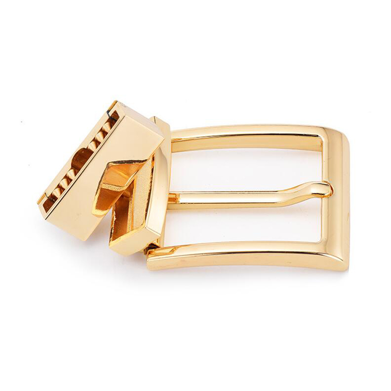 Mens Aolly Gold/Sliver Reversible Prong Belts Buckle 35mm Wide For Male Belt Straps