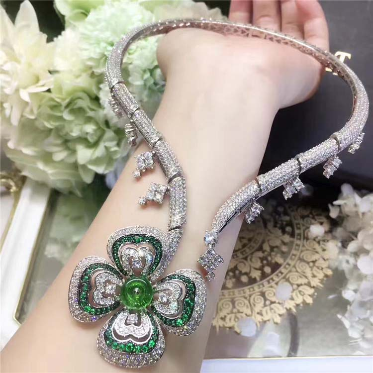 Brand Fashion Party Really 925 Silver Jewelry For Women Banquet Flower Pendant Crystal Necklace Hyperbole Fine Costume Jewelry luxury 925 sterling silver rhinestone torques for women big crystal pendant necklace silver plated banquet costume necklace