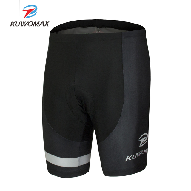 KUWOMAX מכירה לוהטת יוניסקס שחור אופניים נוחים תחתונים ספוג ג ל 3D מרופד אופני קצר רכיבה מכנסיים.
