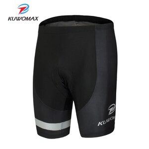 Image 1 - KUWOMAX Offre Spéciale unisexe noir vélo cyclisme sous vêtement confortable éponge Gel 3D rembourré vélo court pantalon vélo Shorts.