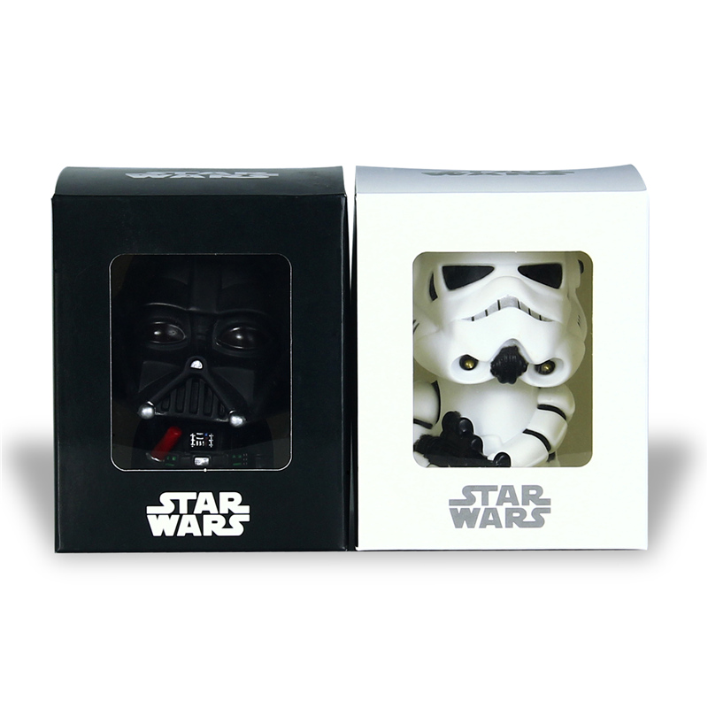 Star Wars Bobblehead 10cm Darth Vader Stormtrooper Bobblehead Toy Car Decoration Action Figure PVC Toy Model