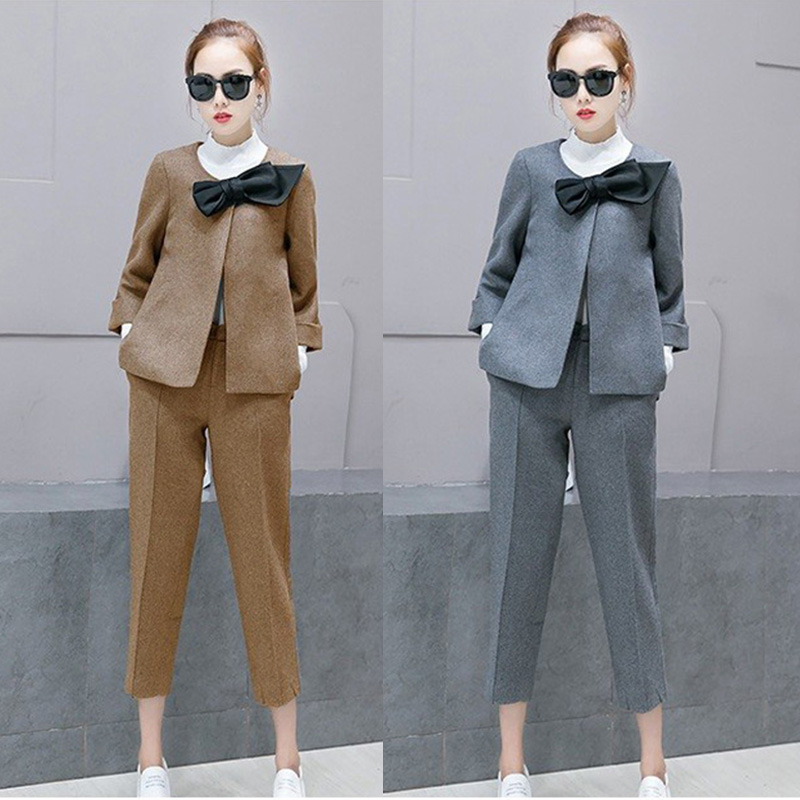 Aliexpress.com  Buy Winter Suit Jacket Female Pants Sets Women 2017 Fashion Ladies Three ...