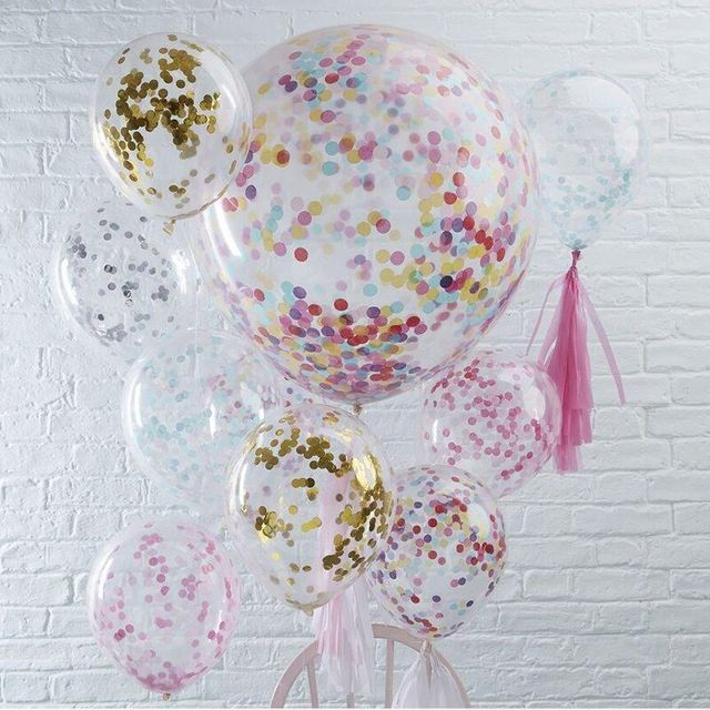 10pcs 12inch Confetti Balloons Inflatable Balloons Wedding Baby Show ...