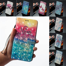 3D Book Flip Covers On For HUAWEI Y6Pro (2017) SLA-L22 Dual SIM PU Cases For HUAWEI Y6 Pro 2017 Cases Wallet TPU Full Housing(China)