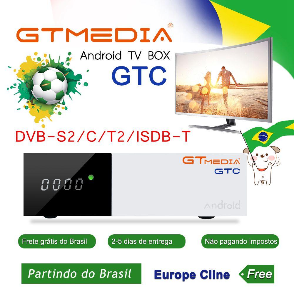 FREESAT GTMedia Android 6.0 Smart TV Box DVB-S2/C/T2/ISDB-T Smart TV Box Amlogic S905D 2 GB + 16 GB BT4.0 H.265 GTmedia GTC DecoderFREESAT GTMedia Android 6.0 Smart TV Box DVB-S2/C/T2/ISDB-T Smart TV Box Amlogic S905D 2 GB + 16 GB BT4.0 H.265 GTmedia GTC Decoder
