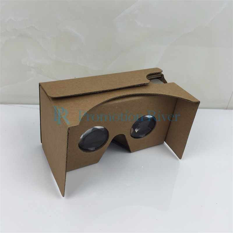 Event Supplies Logo Custom Google Cardboard V 2.0 Custom printing Virtual Reality Headset VR Viewer for up to 6 inch phone 8