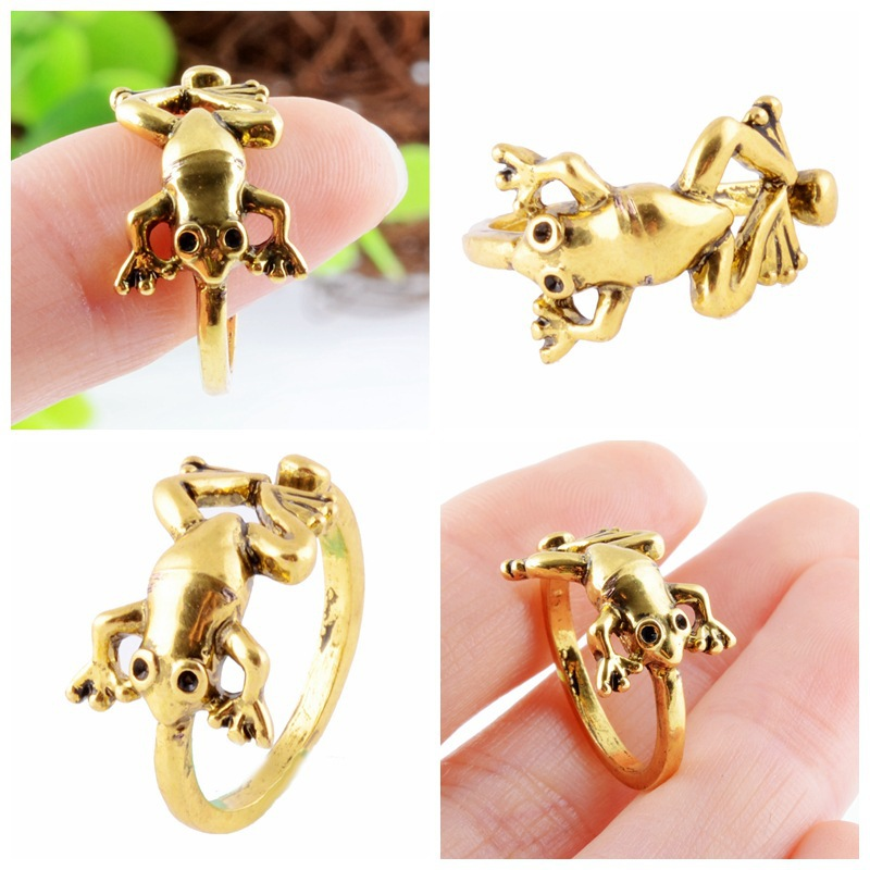 Frog Rings Jewelry Rings For Women Fashion Animal Rings Female Trend Adjustable Rings 4 Colors Black Friday 2016