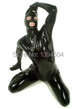 2016 New Bodysuit Men Suits Latex Suit Catsuit With Crotch Zipper Catsuits Fetish Sexy Uniform Hot Free Shipping Fast Delivery