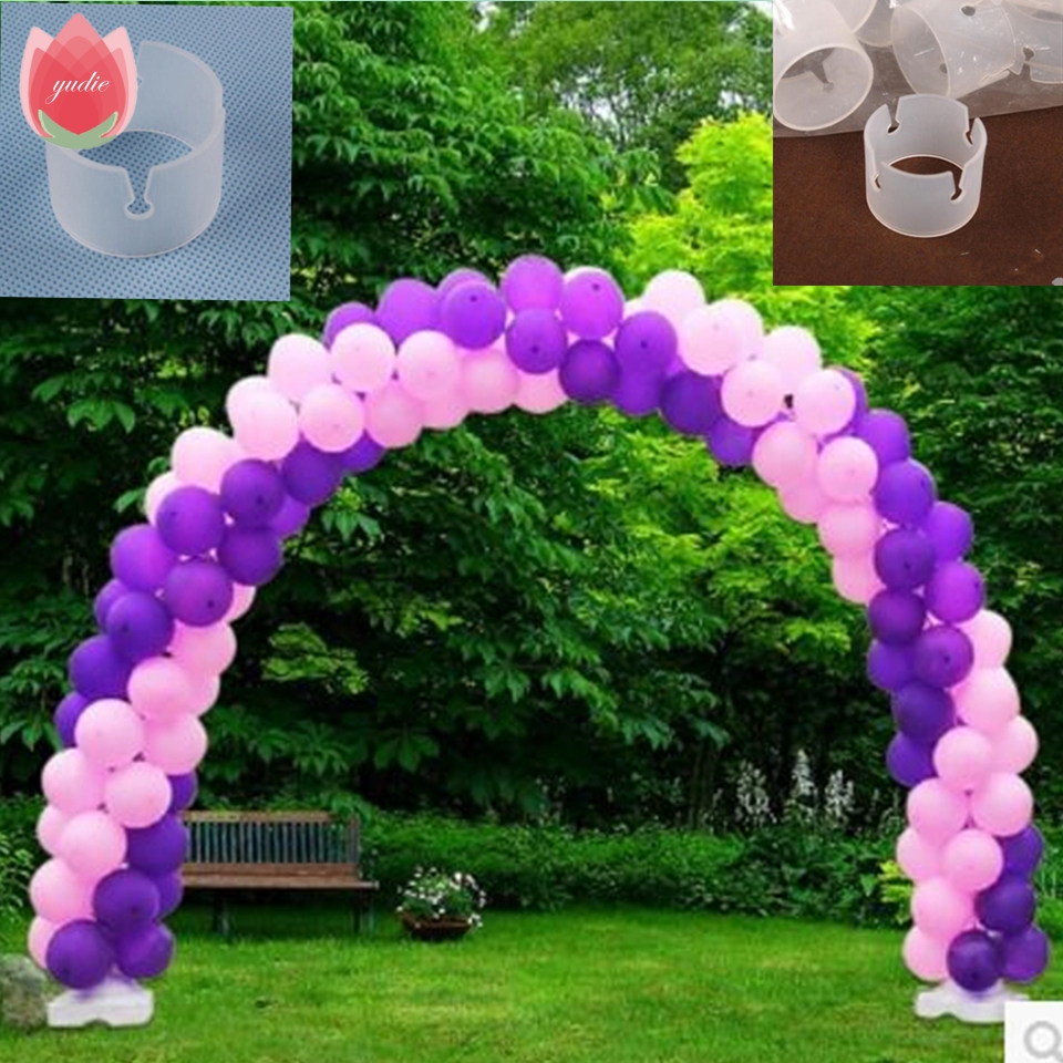 Balloon arch for wedding - 5pcs Lot Balloon Arch Door Clip Foil Latex Ballon Air Balls Inflatable Toy Wedding Birthday