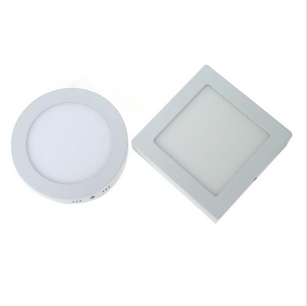 Free shipping 6W/12W/18W Round Led Panel Light Surface Mounted Downlight lighting Led ceiling down lamp bulbs AC85-265V