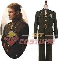 ハロウィンアベンジャーズキャプテン·アメリカのスティーブ·ロジャースwwii陸軍ssr制服図コスプレ衣