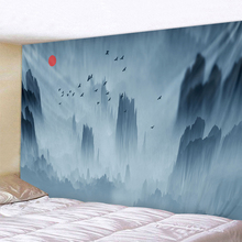 Mountain Range Landscape Tapestry Boho Mandala Wall Hanging Royal Blue 3D Hippie Wall Tapestry Home Decor Mint Yoga Mat все цены