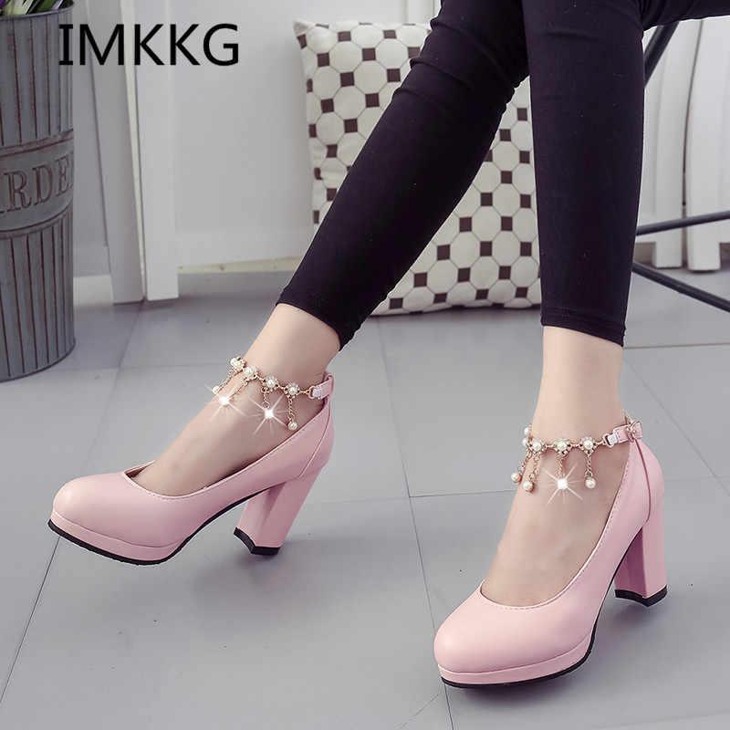Women Wedding Shoes White bridal shoes For Woman Pumps High Heels Ankle  Strap dress Shoes Platform d208d9b4f5f8