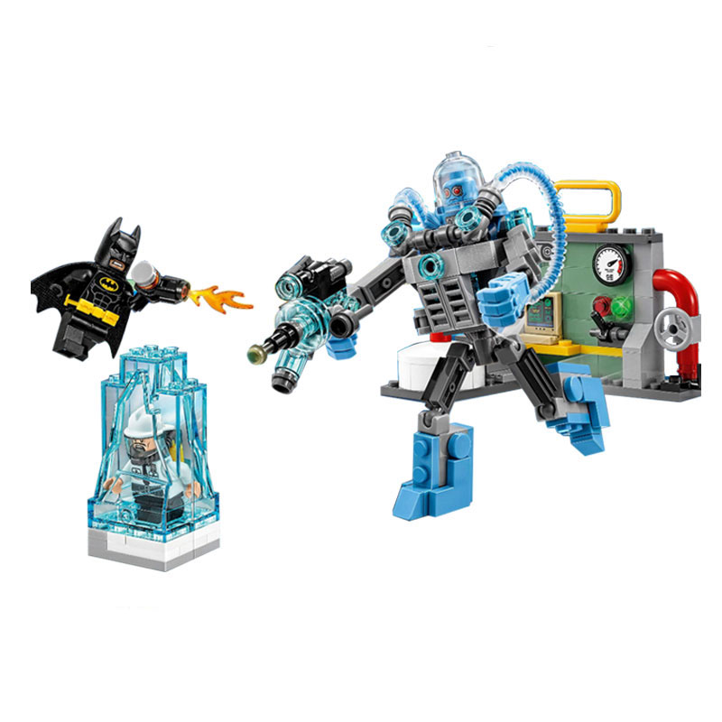 07049 Lepin Building Blocks Bricks Batman Movie Mr Freeze Lce Attack Prison Power Plant Block Set Figures Compatible Legoelieds