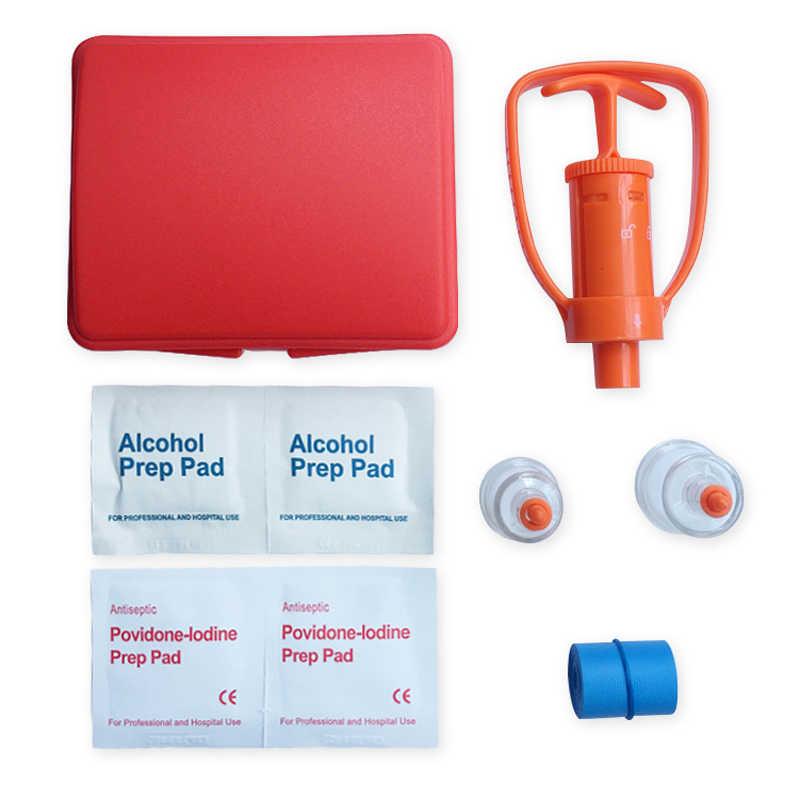 Racun Extractor Kit Racun Remover Set Peralatan Survival Pertolongan Pertama Supply Racun Aspirator Vakum Cocok Perawatan Darurat