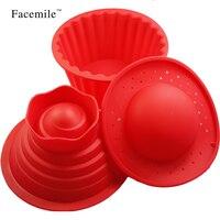 3ピース/セットビッグトップカップケーキシリコーンgiantカップケーキモールド耐熱焼くツールベーキングメーカーnoボックス01106