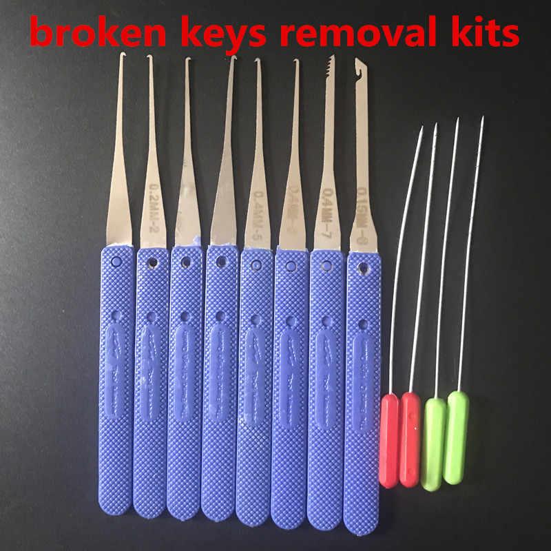 12 sztuk Klom ślusarz narzędzia złamany klucz usuń Auto zestaw do usuwania ze stali nierdzewnej haki do usuwania zestaw sprzętu