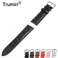 Croco Genuine Leather Watchband 12mm 14mm 16mm 18mm 20mm 22mm 24mm For Cartier Watch Band Strap