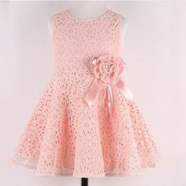 Baby Girls 2-6 Year Lace Dress One Piece Floral Toddler Infants Princess Dress YTUB0