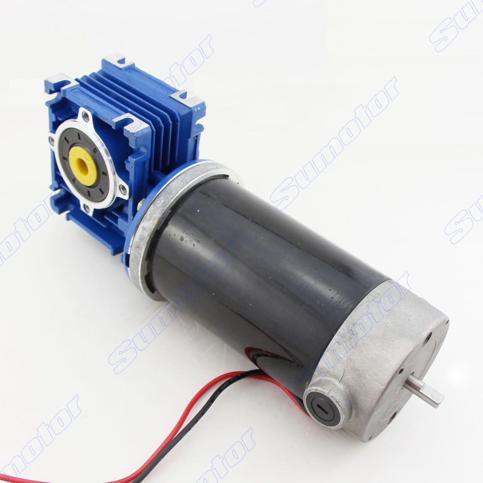 GW80170 DC 12V 24V back shaft for encoder Worm Gear Motor Reduction Electric engine Large Torque Low speed big power Industrial gw600 12v 24v dc tail shaft for encoder worm gear motor electric engine worm reducer low speed high torque for robot lift car