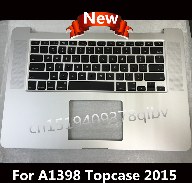 New US Top case For MacBook Pro 15 Retina A1398 Palmrest topcase US keyboard No trackpad 2015 new silver top case for macbook core m 12 a1534 top case mf865 topcase no keyboard