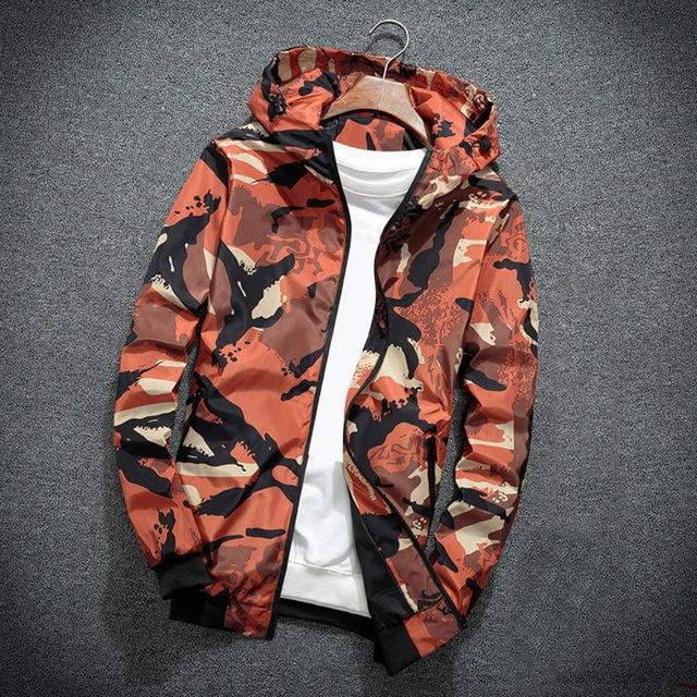 HEFLASHOR 2018 Camouflage Jacket Men Fashion Holiday Camo Hooded Sun protection Military Jacket Parka Streetwear Clothing
