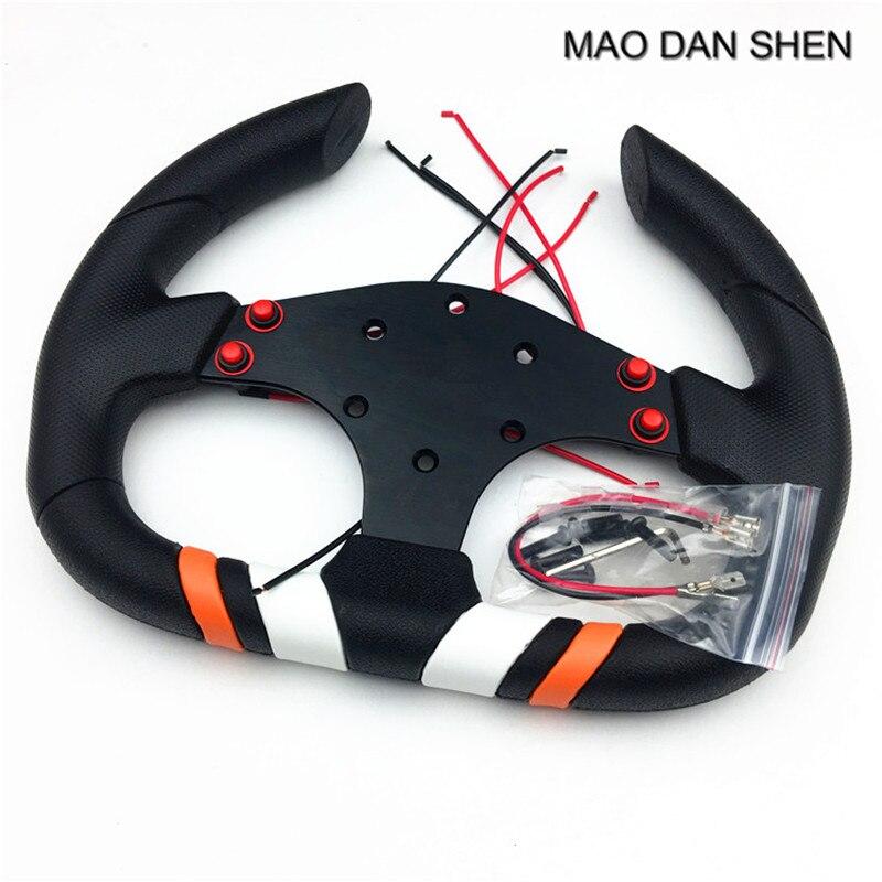2018 hot 12 inch horn Auto styling personality steering wheel / racing Logitech sports  universal PU steering wheel
