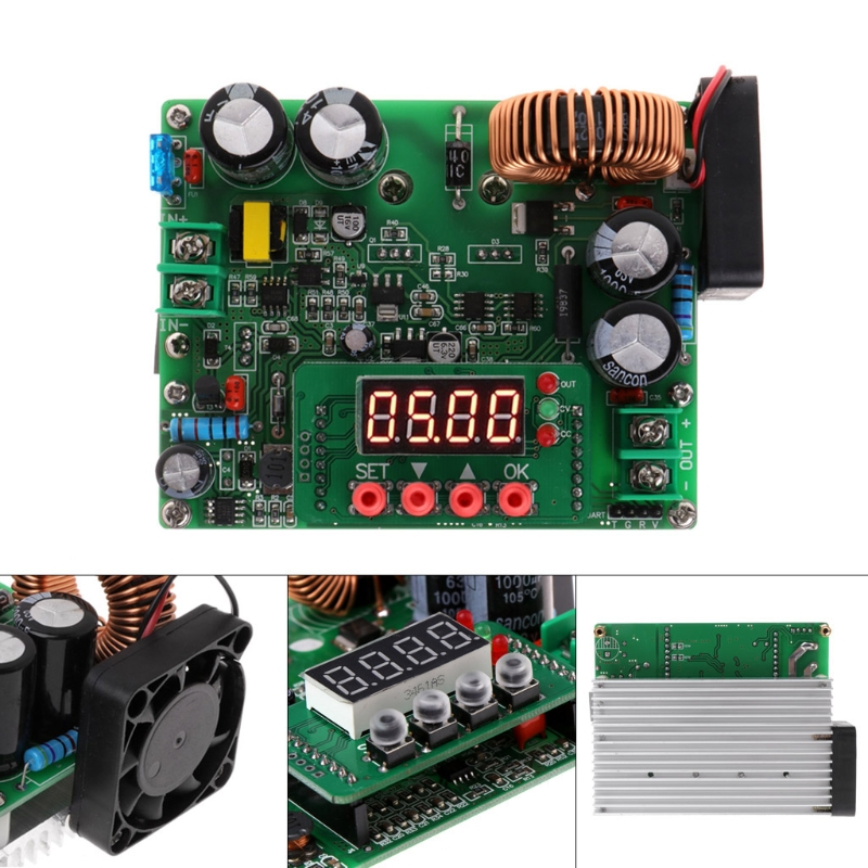 DC Buck Converter Board Digital Power Supply Module DC10V~75V to 0~60V 12A 720W 20pcs lot phd3055e 60v 12a