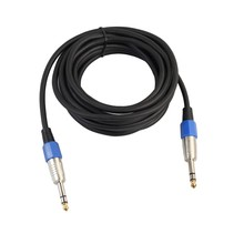 "1/4"" Jack 6.35mm to 6.35mm Audio Cable Male to Male For Electric Guitar Mixer 1M 1.8M 3M 5M Stereo Cable Top Quality"