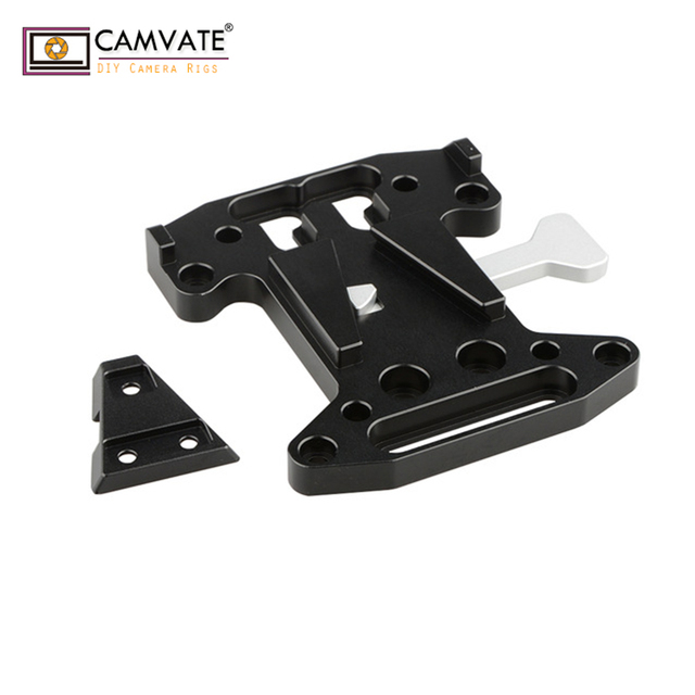 CAMVATE Camera QR Assembly Kit V Lock Quick Release Plate For DSLR/Blackmagic URSA Mini/ DJI Ronin M/MX V Mount Battery Mounting