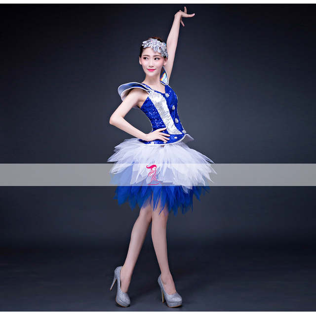 69eb9e5753c3 Online Shop Fashion female jazz dance clothes Modern dancing ...