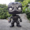 New arrival FUNKO POP Captain America 3 Civil War Black Panther NO.130  PVC Action Figure 10cm Model Collectible Toys Doll