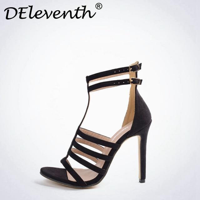 Chaussures à bout ouvert noires Casual femme 9rIUVV