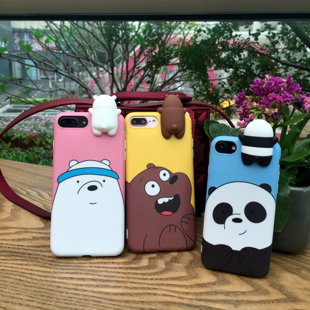 Toys bears brothers case for iphone 7 case iphone 6 6s 7 for 3d decoration for phone cases