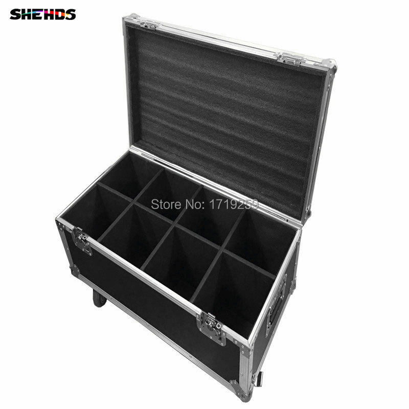 Flight Case with 8 pieces LED Par 18x18W RGBWA+UV 6in1 LED Par Can Par led spotlight dj projector wash lighting stage lighting free shipping 6pcs lot concert stage 6 in 1 zoom wash led par can 18x18w led par ip25 rgbw led wash with zoom
