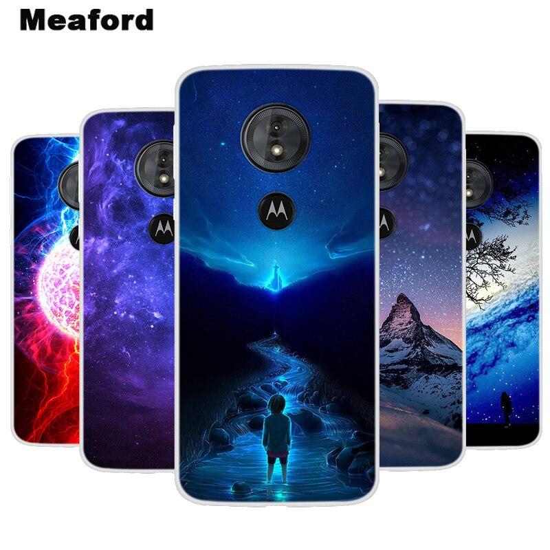 Silicone Case For Motorola Moto E5 G6 Play Soft Phone Case Space Print Coque For Moto G6 E5 Play E 5 G 6 Clear bumper Cover