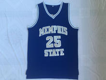 97c56c7c6 BONJEAN Mens Cheap Throwback Basketball Jerseys Penny Anfernee Hardaway  Blue Jersey Memphis State College Stitched Retro Shirts